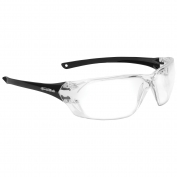 Bolle 40057 Prism Safety Glasses - Black Temples - Clear Anti-Fog Lens