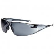 Bolle 40071 Rush Safety Glasses - Smoke Temples - Smoke Anti-Fog Lens