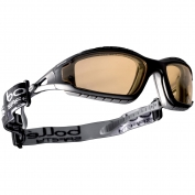 Bolle 40088 Tracker Safety Glasses/Goggles - Black/Grey Temples - Twilight Anti-Fog Lens