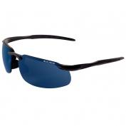 Bullhead BH106129 Swordfish Safety Glasses - Black Frame - Blue Polarized Mirror Lens