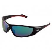 Bullhead BH1251612 Javelin Safety Glasses - Black Frame - Green Polarized Mirror Lens
