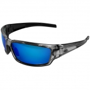 Bullhead Safety BH14209 Maki Safety Glasses - Silver Frame - Polarized Blue Mirror Lens