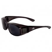 Bullhead BH233 Over Glass Safety Glasses - Black Frame - Smoke Lens