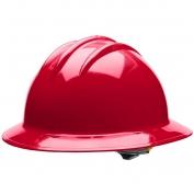 Bullard C33RDR Classic Full Brim Hard Hat - Ratchet Suspension - Red