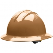 Bullard C33TNR Classic Full Brim Hard Hat - Ratchet Suspension - Tan