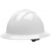 Bullard C33WHR Classic Full Brim Hard Hat - Ratchet Suspension - White