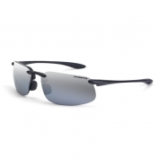 CrossFire ES4 Safety Glasses - Black Frame - Silver Mirror Lens