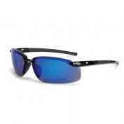 CrossFire ES5 Safety Glasses - Black Frame - Blue Mirror Lens