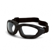 CrossFire Element Safety Goggles - Black Foam Lined Frame - Clear Anti-Fog Lens