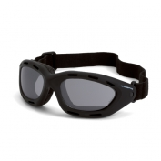 CrossFire Element Safety Goggles - Black Foam Lined Frame - Smoke Anti-Fog Lens