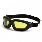 CrossFire Element Safety Goggles - Black Foam Lined Frame - Yellow Anti-Fog Lens