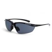 CrossFire Sniper Safety Glasses - Black Frame - Smoke Polarized Lens
