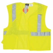 River City CL2MLPFR Class 2 Limited Flammability Breakaway Mesh Safety Vest - Yellow/Lime