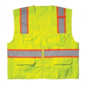 CLC SV22 Class 2 Surveyor Safety Vest - Yellow/Lime