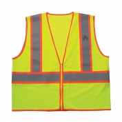 CLC SV34 Class 2 FR Treated Two-Tone Safety Vest - Yellow/Lime