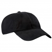 Port & Company CP77 Brushed Twill Low Profile Cap - Black