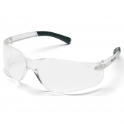 Crews BK110 BearKat Safety Glasses - Clear Temples - Clear Ballistic Lens