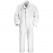 Red Kap Twill Action Back Coveralls - White