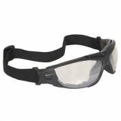 Radians Cuatro 4-In-1 Safety Glasses/Goggles - Smoke Foam Lined Frame - Indoor/Outdoor Anti-Fog Mirror Lens Bifocal Lens