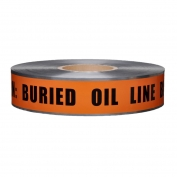 CAUTION BURIED OIL LINE BELOW - Detectable Underground Warning Tape
