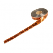 CAUTION BURIED FIBER OPTIC LINE BELOW - Detectable Underground Warning Tape