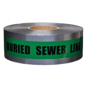 CAUTION BURIED SEWER LINE BELOW - Detectable Underground Warning Tape