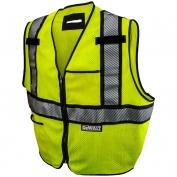 DeWalt DSV971 Class 2 Modacrylic FR Mesh Safety Vest - Yellow/Lime