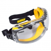 DeWalt DPG82-11 Concealer Goggles - Yellow Frame - Clear Anti-Fog Lens