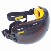 DeWalt DPG82-21 Concealer Goggles - Yellow Frame - Smoke Anti-Fog Lens