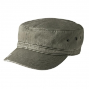 District DT605 Distressed Military Hat - Olive