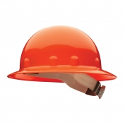 Fibre Metal E1RW Full Brim Hard Hat - Ratchet Suspension - Orange