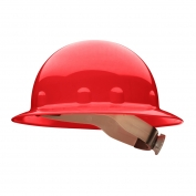 Fibre Metal E1RW Full Brim Hard Hat - Ratchet Suspension - Red
