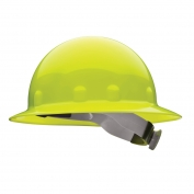 Fibre Metal E1RW Full Brim Hard Hat - Ratchet Suspension - Hi-Viz Yellow