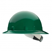 Fibre Metal E1RW Full Brim Hard Hat - Ratchet Suspension - Green