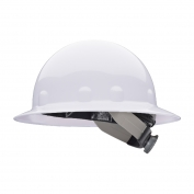 Fibre Metal E1SW Full Brim Hard Hat - SwingStrap Suspension - White
