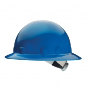 Fibre Metal E1SW Full Brim Hard Hat - SwingStrap Suspension - Blue