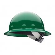 Fibre Metal E1SW Full Brim Hard Hat - SwingStrap Suspension - Green