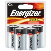 C Energizer Batteries, Max Line, 4-pack