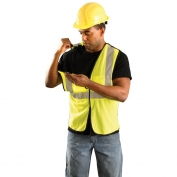 OccuNomix ECO-GCB Value Class 2 Breakaway Mesh Safety Vest - Yellow/Lime