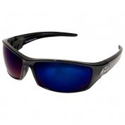 Edge TSRAP218 Reclus Safety Glasses - Black Frame - Blue Mirror Polarized Lens