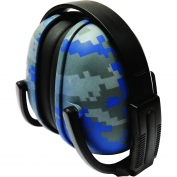 ERB 239 Foldable Ear Muffs - Blue Digital Camo