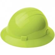 ERB 19220 Americana Full Brim Hard Hat - 4-Point Ratchet Suspension - Hi-Viz Lime