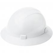 ERB 19221 Americana Full Brim Hard Hat - 4-Point Ratchet Suspension - White