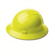 ERB 19228 Americana Full Brim Hard Hat - 4-Point Ratchet Suspension - Hi-Viz Yellow