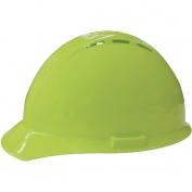 ERB 19450 Americana Vented Hard Hat - 4-Point Ratchet Suspension - Hi-Viz Lime