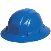 ERB 19916 Omega II Full Brim Hard Hat - 6-Point Ratchet Suspension - Blue