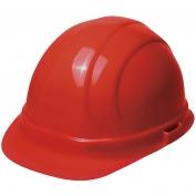 ERB 19954 Omega II Hard Hat - 6-Point Ratchet Suspension - Red
