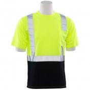 ERB 9604S Class 2 Black Bottom Moisture Wicking Safety Shirt - Yellow/Lime