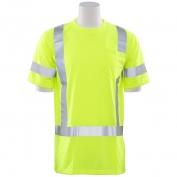 ERB 9801S Class 3 Short Sleeve Safety Shirt - Yellow/Lime