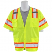 ERB S680 Class 3 Two-Tone Surveyor Safety Vest - Yellow/Lime